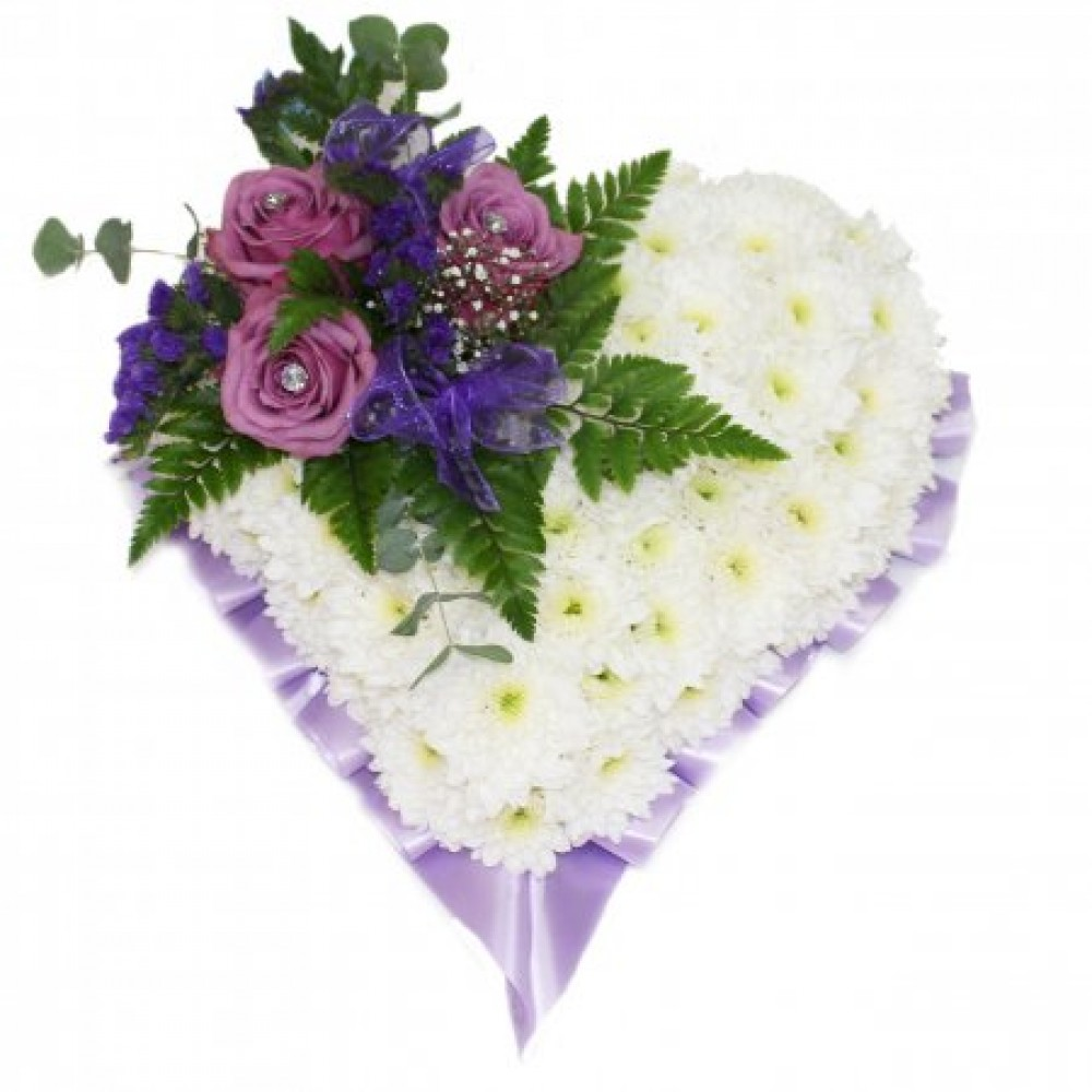 Funeral heart lilac pats flowers funeral heart lilac izmirmasajfo